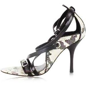 Karen Millen Snakeskin Strappy Heel Sandals. 41/10